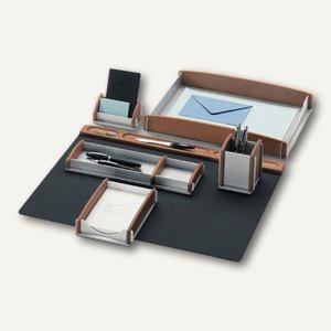 Rumold Schreibtisch-Set, Buche-Aluminium, 6-teilig, matt lasiert, 968 910