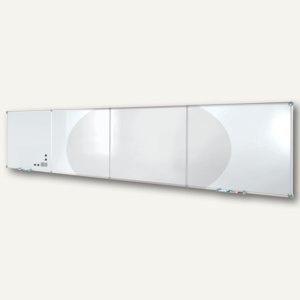 Hebel Endlos-Whiteboards - Erweiterung, Emaille, 120 x 90 cm, quer, grau, 6334884