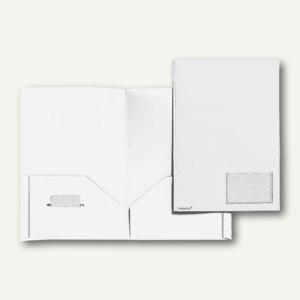 Broschüren-Mappe A4, PP, Abheftlaschen, Taschen/Innen, 2x 50 Bl., weiß, 20 St.