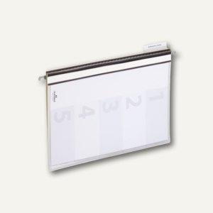 Personalhefter f. Hängeregistratur DIN A4, PP Kunststoff, 5-fach, grau, 5 St.