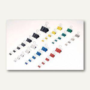 """MAUL Foldback-Klemmer """" mauly 215"""", B:19mm, Weite 7mm, sortiert, 120 St., 2151999"""
