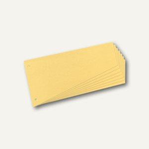 Herlitz Trennstreifen Trapez, 120 x 230 mm, gelb, 100er Pack, 10838381
