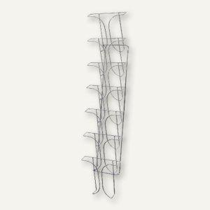 deflect.o Wandprospekthalter, 7 Fächer für DIN A4, chrom, DE78645 - Vorschau