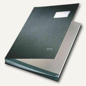 LEITZ Unterschriftenmappe DIN A4, 10 Fächer, schwarz, 5701-00-95