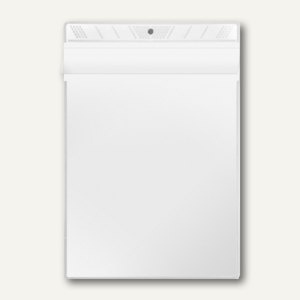 Sichttasche, A5, PP 140 my, Überfallklappe, mittige Lochung, 100 Stück, 3305000 - Vorschau