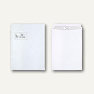 FSC Versandtaschen DIN C4, 100 g/m², haftklebend, Fenster, weiß, 250 Stück