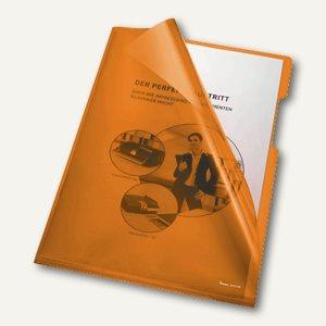 Bene Aktenhüllen 150my DIN A4, oben u. rechts offen, orange, 100 Stück, 205000 OR