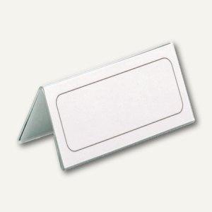 Durable Tischnamensschild Dachform, 61/122 x 150 mm, Hartfolie, 25 Stück, 8050-19