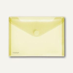 FolderSys Dokumententaschen, DIN A5 quer, Klett, gelb, 100 Stück, 40102-64