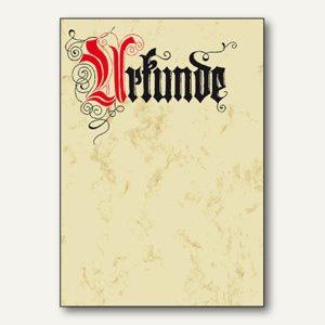"""Sigel Designpapier """" Urkunde""""-Calligraphie, DIN A4, 185 g/m², 12 Blatt, DP548"""