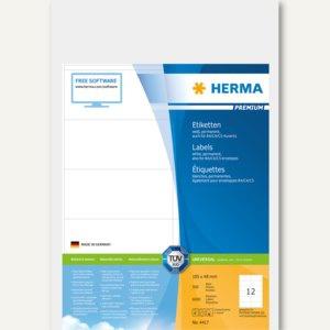Herma Etiketten Premium, 105 x 48 mm, weiß, 6.000 Stück, 4417