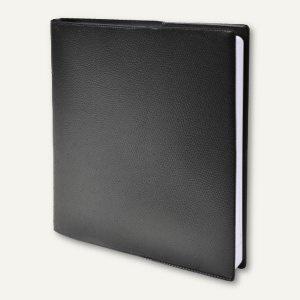 Executif Prestige Impala Terminkalender - 16 x 16 cm, 1 Woche/2 Seiten, schwar