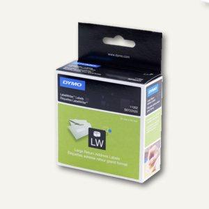 Dymo Rücksendeadress-Etiketten, permanent, 25 x 54 mm, weiß, 500 Stück, S0722520