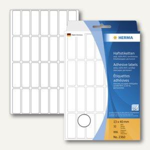 Herma Vielzweck-Etiketten, 13 x 40 mm, weiß, 5 x 896 Stück, 2360