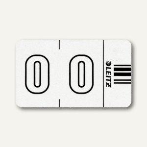 """LEITZ Ziffernsignal Orgacolor """" 0"""", auf der Rolle, weiß, 500 Stück, 6600-10-00"""
