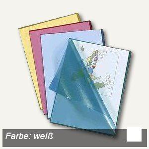 Sichthüllen, DIN A4, 120my, PP, genarbt, Griffausstanzung, weiß, 100 Stück