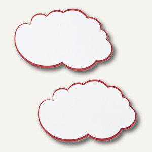 Franken Moderationswolken, 25x42 cm, weiß/roter Rand, 20 Stück, UMZW - Vorschau