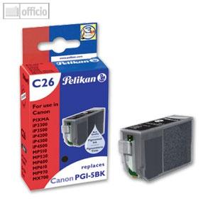 Pelikan Tintenpatrone C26 für Canon PGI-5bk, 27 ml, schwarz, mit Chip, 361691