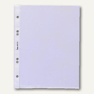 Bene Prospekthüllen DIN A5, 100my, Lochrand, oben offen, klar, 50 Stück, 206870