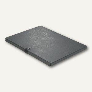 Dokumentenmappe DIN A4, Druckknopf, 10 mm bis 80 Blatt, Karton 350 g/m², schwarz