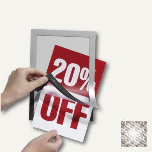 Durable Inforahmen DURAFRAME®, DIN A5, selbstklebend, silber, 2 Stück, 4871-23