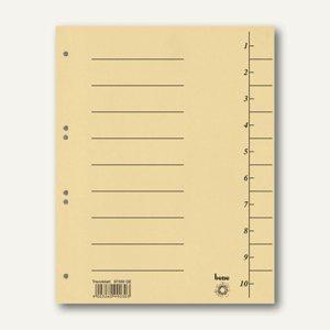 Bene Trennblätter DIN A4, Karton 250 g/m², 235 x 300 mm, gelb, 100 Stück, 97300