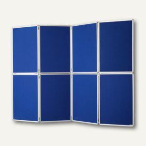 Mobile Präsentationswand/Raumteiler Filz, 4-teilig, 181 x 244 cm, klappbar - Vorschau