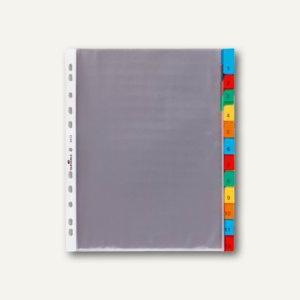 Durable Hüllenregister, 12 tlg., Universal-Lochung, transparent, 3 Stück, 6633-19