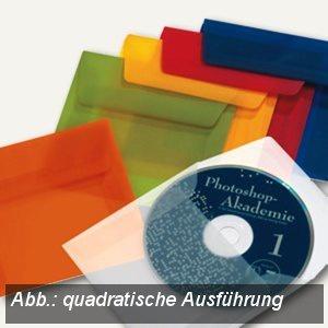 Briefumschlag DIN C5, haftklebend, 100g/m² transparent-rot, 100St., 1959684150