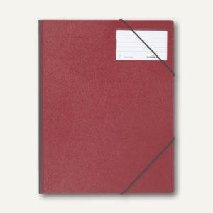 Durable Eckspanner A4 aus Hartfolie, bis 150 Blatt, rot, 10 Stück, 2320-03