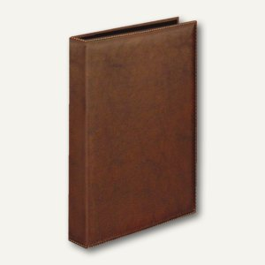 "Veloflex Ringbuch "" Exquisit"", DIN A4, 4-D-Ringe Ø 25 mm, braun, 5143760"