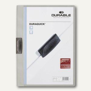 Durable Klemm-Mappe DURAQUICK, DIN A4, bis 20 Blatt, grau, 20 St., 227010