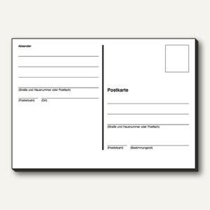 Sigel Postkarten DIN A6 quer, 100 Stück, PS600