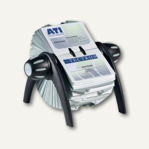 Durable Visitenkarten-Rollkartei VISIFIX FLIP VEGAS, schwarz, 2417-01