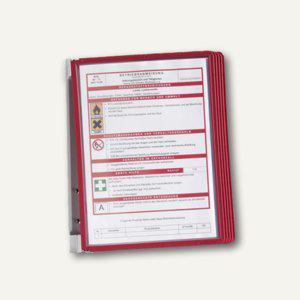 Durable Wand-Sichttafelsystem VARIO WALL 5, DIN A4, mit 5 Tafeln, rot, 5551-03 - Vorschau