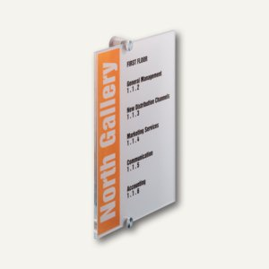 Durable Türschild CRYSTAL SIGN, Acrylglas, 210 x 297 mm, 4825-19
