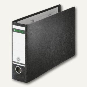 LEITZ Ordner für DIN A4 quer, 230 x 364 mm, Rücken 80 mm, schwarz, 1074-00-00