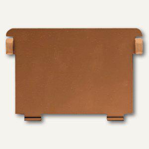 HAN Metallstützplatte Nr. 7 DIN A7 quer, braun, HAN-7
