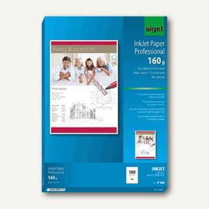 "Sigel Papier "" InkHigh Color spezial"", DIN A4, 160g/m², 100 Blatt, IP286"