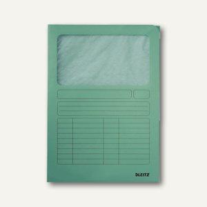 LEITZ Sichtmappe DIN A4, Karton mit Sichtfenster, hellgrün, 100 Stück, 3950-00-50
