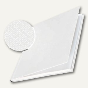 Buchbindemappe impressBIND, 106-140 Blatt, Leinen, Hardcover, weiß, 10 Stück