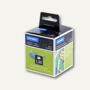 Dymo Hängeablage-Etiketten, permanent, 12 x 50 mm, weiß, 220 Stück, S0722460