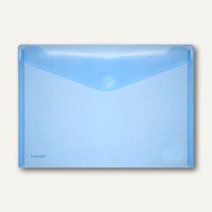 FolderSys Dokumententaschen DIN A4 quer, blau, Klettverschluß, 100 St., 40101-44