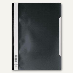 Schnellhefter DIN A4, PP, transparentes Deckblatt, schwarz, 50 Stück, 2573-01