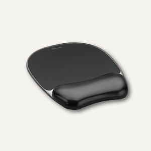 Fellowes Mousepad Crystal Gel mit Handgelenkauflagel, schwarz, 9112101