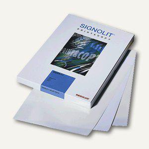 Signolit selbstklebende Kopier-S/W-Laserdruckfolie, DIN A3, glasklar, 40 Blatt,