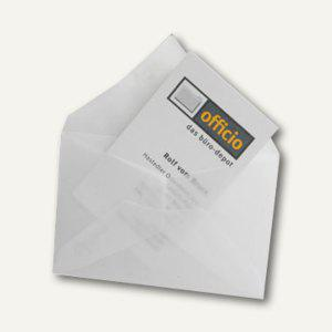 Briefumschlag für Visitenkarten, 62 x 98 mm, nasskl., transparent-klar, 100 St. - Vorschau