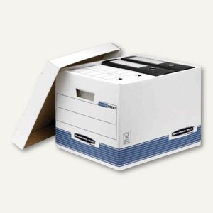 Archiv- und Transportbox BANKERS BOX, 333 x 390 x 285 mm (BxTxH), blau, 10 Stück