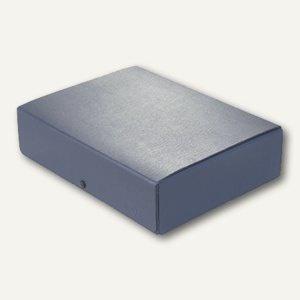 Dokumentenmappe DIN A4, Druckknopf, 80 mm bis 780 Blatt, Karton 350 g/m², blau
