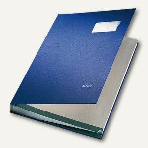 LEITZ Unterschriftenmappe DIN A4, 10 Fächer, blau, 5701-00-35